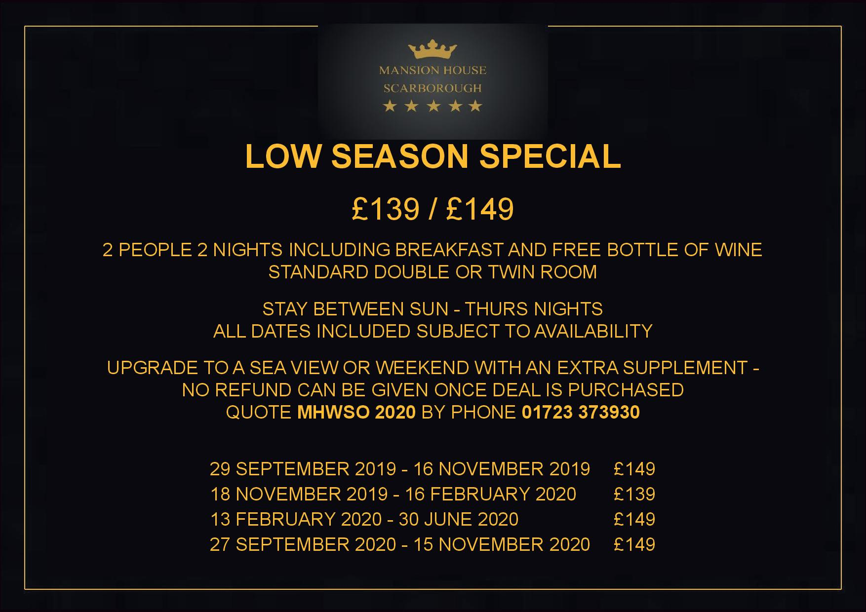 Low Season Special Offer