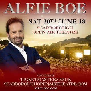 Alfie Boe Headlining Armed Forces Day 30th June 2018